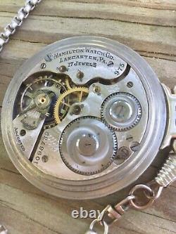 Hamilton 975 17 Jewel Side Winder Hunter Case Railroad Conductor pocket watch