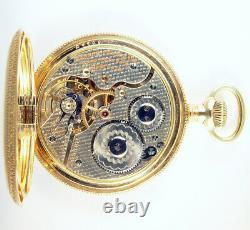Hamilton 991 Extremely Rare Fishscale Damaskeen 21j 16s Hc Pocket Watch