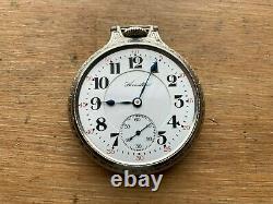 Hamilton 992 16s 21 Jewel Railroad Grade Pocket Watch, 14K White Gold Filled