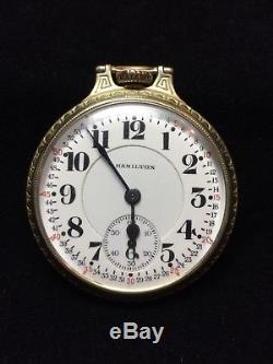 Hamilton 992 21 Jewels Montgomery Dial Railroad Pocket Watch I-8623