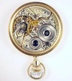 Hamilton 992 21j 16s Rare Anna Silveira Fancy Dial Private Label Pocket Watch