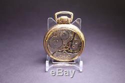 Hamilton 992 21j Railroad Pocket Watch Running Condition Salesman Display Back