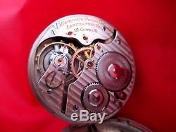 Hamilton 992 Antique 21 Jewels 16 sz Salesman Display Rare Case Pocket Watch RR