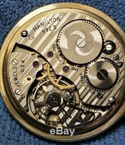 Hamilton 992 B Railway Special 16s 21j Antique Pocket Watch 10kgf Case