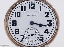 Hamilton 992 ELINVAR 16s 21j Pocket Watch in Wadsworth Bar-Over-Crown Case