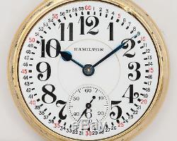 Hamilton 992 ELINVAR 16s 21j Pocket Watch in Wadsworth Bar-Over-Crown Case! Runs
