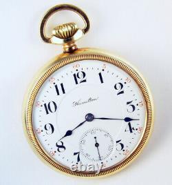 Hamilton 992 Extra 21j 16s Rare 2-tone Railroad Pocket Watch