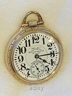 Hamilton 992 Mvmt Marked SPECIAL Railroad 21J Pocket Watch 2Tone Mvmt 10k GF