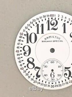 Hamilton 992 Original Railway Special Porcelain Dial 16 Sze Nice Rare