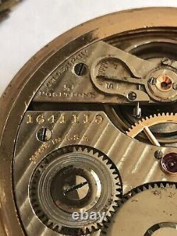 Hamilton 992 Railroad Pocket Watch 21J Lever Set Gold Filled 16S Montgomery Dial