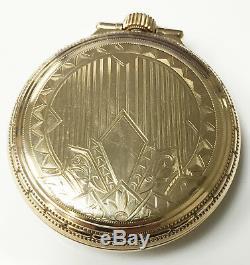 Hamilton 992 Railroad Vintage Wind Up Open Face Pocket Watch 10K GF 21 Jewels