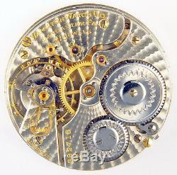 Hamilton 992 Rare Sunburst Damaskeen 21j 16s Railroad Pocket Watch Mvt