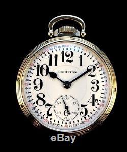Hamilton 992B 16s 21Jewel Railroad Pocketwatch Curly4 Montgomery Dial Near Mint