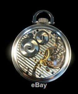 Hamilton 992B 21 J 16s Railroad Pocket watch M#15 SS Case Near Mint Condition