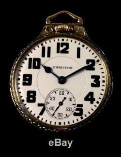 Hamilton 992B 21 J 16s Railroad Pocket watch M# 17 Case Near Mint Condition