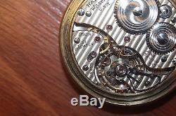 Hamilton 992B 21J 10k Gold Filled Open Face Railroad Pocket Watch Make Offer