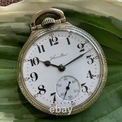Hamilton 992B Model 5 16S 21J 10K Rolled Gold Railroad Pocket Watch