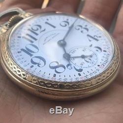 Hamilton 992B Railroad 21J Railway Special Montgomery Dial C27105 Pocket Watch