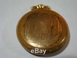 Hamilton 992b 14 Karat Gold 21 Jewelrailway Railroad Watch Runs Excellently
