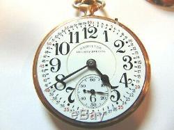 Hamilton 992b 21Jewel Railroad Special EXELLENT Montgomery Dial Pocket Watch