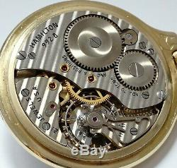 Hamilton 992b 21j 4c Serial # Exceptional New Old Stock Railroad Pocket Watch