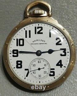 Hamilton 992b Railway Special Railroad Grade Pocket Watch 21 Jewel