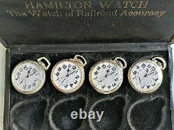 Hamilton 992b Set Of Four Diffferent Movement Markings