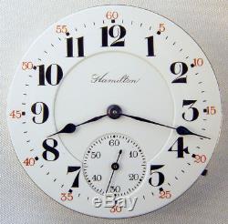 Hamilton 993 Extra 21 Jewel 16s Beautiful 2-tone Rare Pocket Watch Mvt