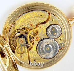Hamilton 993 Extra 21j 16s Very Rare Fancy 2-tone Railroad Pocket Watch