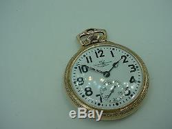 Hamilton 999b Ball Official Railroad Standard 21j Railroad Pocket Watch 1946
