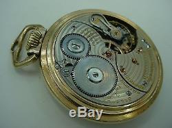 Hamilton 999p Ball Official Railroad Standard 21j Railroad Pocket Watch 1937