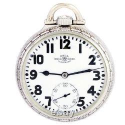 Hamilton Ball Watch Co 999 Railroad Pocket Watch Ca1925 16 Size, 21 Jewel