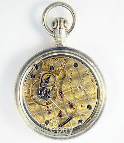 Hamilton Burlington Route Special Grade 938 17j 18s Rare Railroad Pocket Watch