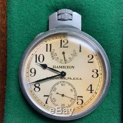 Hamilton Chronometer Deck Watch Model 22 size 36 Non-Gimbaled Naval Ship 1943