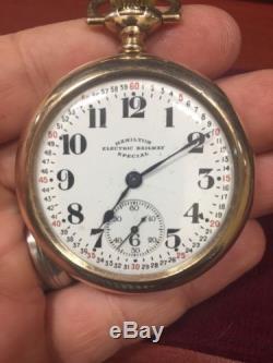Hamilton Electric Railway Special Pocket Watch 10kt
