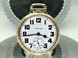 Hamilton Elinvar 992E 16S 21J Railroad Pocket Watch BOC Case SERVICED