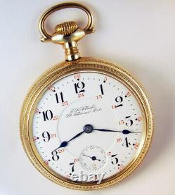 Hamilton Flachs Railroad Special 21j 18s Canadian Private Label Pocket Watch