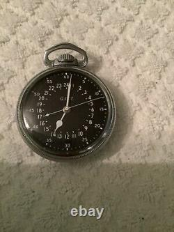 Hamilton G. C. T. Military Model 4992b Korean War Era Pocket Watch Running 1950