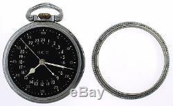 Hamilton GCT Military Pocket Watch 16s 22J Grade 4992B OF WWII Pilot 24hr Army