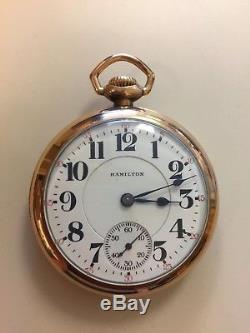 Hamilton Gold Filled 940 Railroad Grade 21 Jewels Pocket Watch