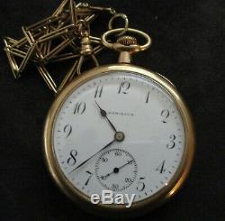 Hamilton Gold Pocket Watch 1914 14K 23 Jewel