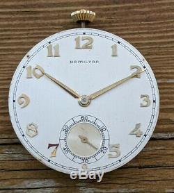 Hamilton Grade 921, 21 Jewel Movement, Running & Complete, Very NICE