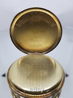 Hamilton, Grade 922, 23J, 14K gold OF Hamilton signed case 27g