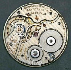 Hamilton Grade 992 Model 2 21 Jewels 16 S Railroad Grade Pocket Watch Movement
