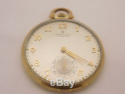 Hamilton Masterpiece 10k Yellow Gold Pocket Watch 23 Jewel