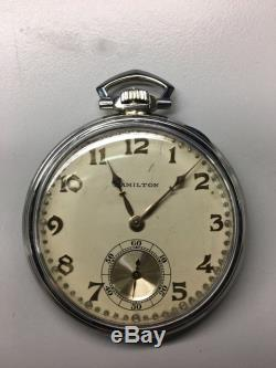 Hamilton Masterpiece 23j Pocket Watch 18k White Gold
