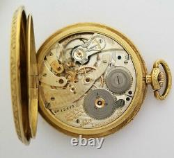 Hamilton Masterpiece Grade 922MP 18K Yellow Gold Ivory Dial 12S Pocket Watch