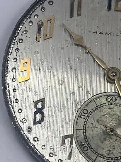 Hamilton Masterpiece Grade 922mp Pocket Watch Movement 23j Mod 2 12s Ticks F2723