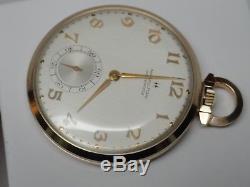 Hamilton Masterpiece Pocket Watch Solid 10k Gold 23 Jewel Ford Motor Co Award