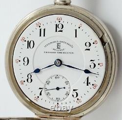 Hamilton Mermod Jaccard Paragon Timekeeper 21 Jewel 18 Size Pocket Watch